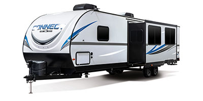 2020 KZ RV Connect C332BHK Travel Trailer Exterior Front 3-4 Off Door Side with Slide Out