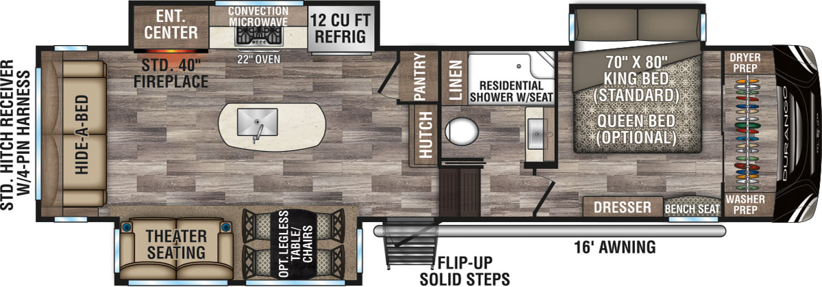 2020 Durango Fifth Wheel Floorplans Kz Rv