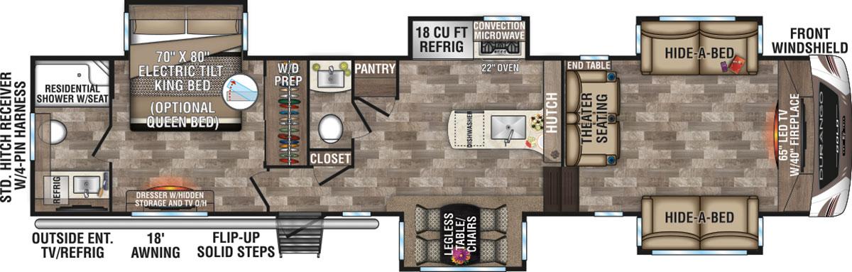 2020 Durango Gold Fifth Wheel Floorplans Kz Rv