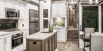 2020 KZ RV Durango Gold G356RLT Fifth Wheel Kitchen