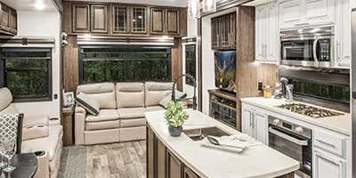 2020 KZ RV Durango Gold G356RLT Fifth Wheel Living Room