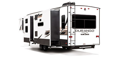 2020 KZ RV Durango Half-Ton D294MBQ Fifth Wheel Exterior Rear 3-4 Off Door Side with Slide Out