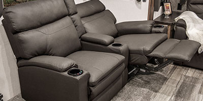 2020 KZ RV Durango Half-Ton D294MBQ Fifth Wheel Theater Seating Left Reclined