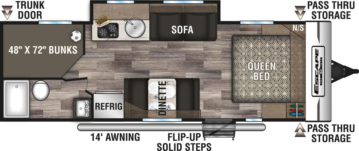 2020 Escape Travel Trailer Floorplans Kz Rv