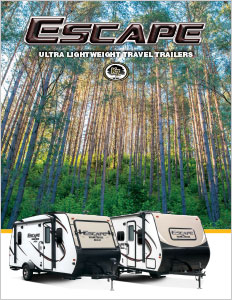 2018 KZ RV Escape Ultra Lightweight Travel Trailers Brochure