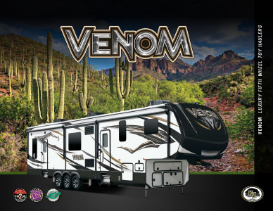 2018 KZ RV Venom Luxury Fifth Wheel Toy Haulers Brochure