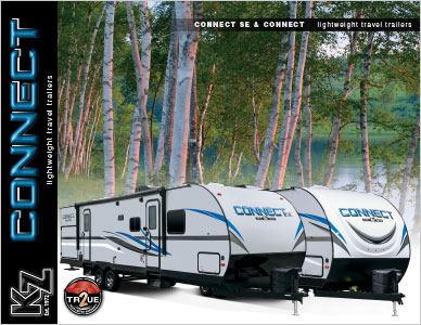 2019 KZ RV Connect and Connect SE Lightweight Travel Trailers Brochure