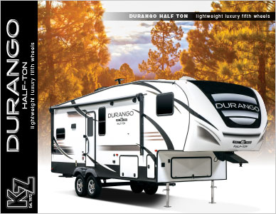 2019 KZ RV Durango Half-Ton Lightweight Luxury Fifth Wheels Brochure