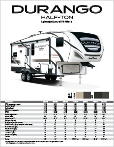 2019 KZ RV Durango Half-Ton Lightweight Luxury Fifth Wheels Flyer
