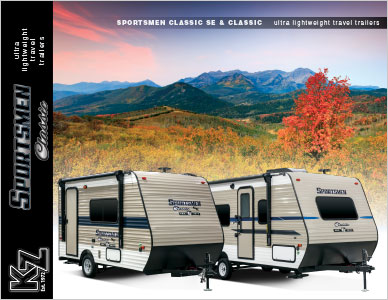 2019 KZ RV Sportsmen Classic Ultra Lightweight Travel Trailers Brochure