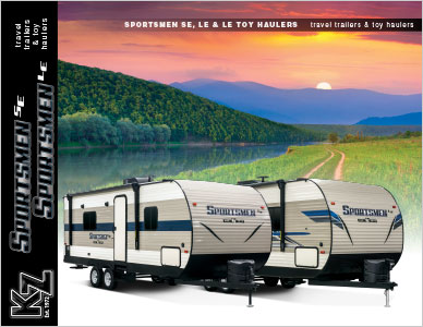2019 KZ RV Sportsmen SE and LE Travel Trailers Brochure