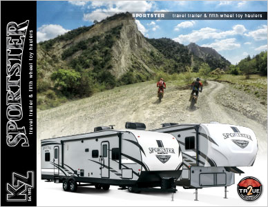 2019 KZ RV Sportster Travel Trailer and Fifth Wheel Toy Haulers Brochure