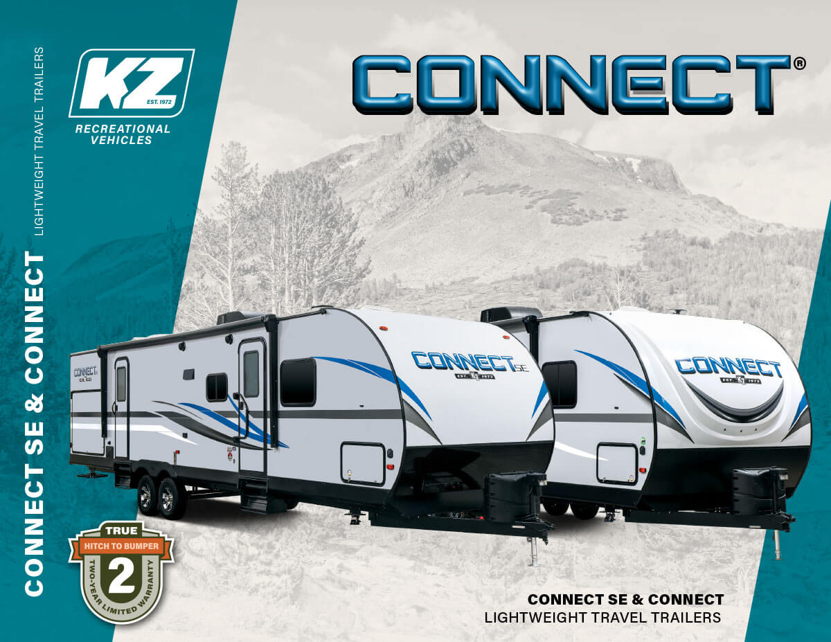 2020 KZ RV Connect and Connect SE Lightweight Travel Trailers Brochure