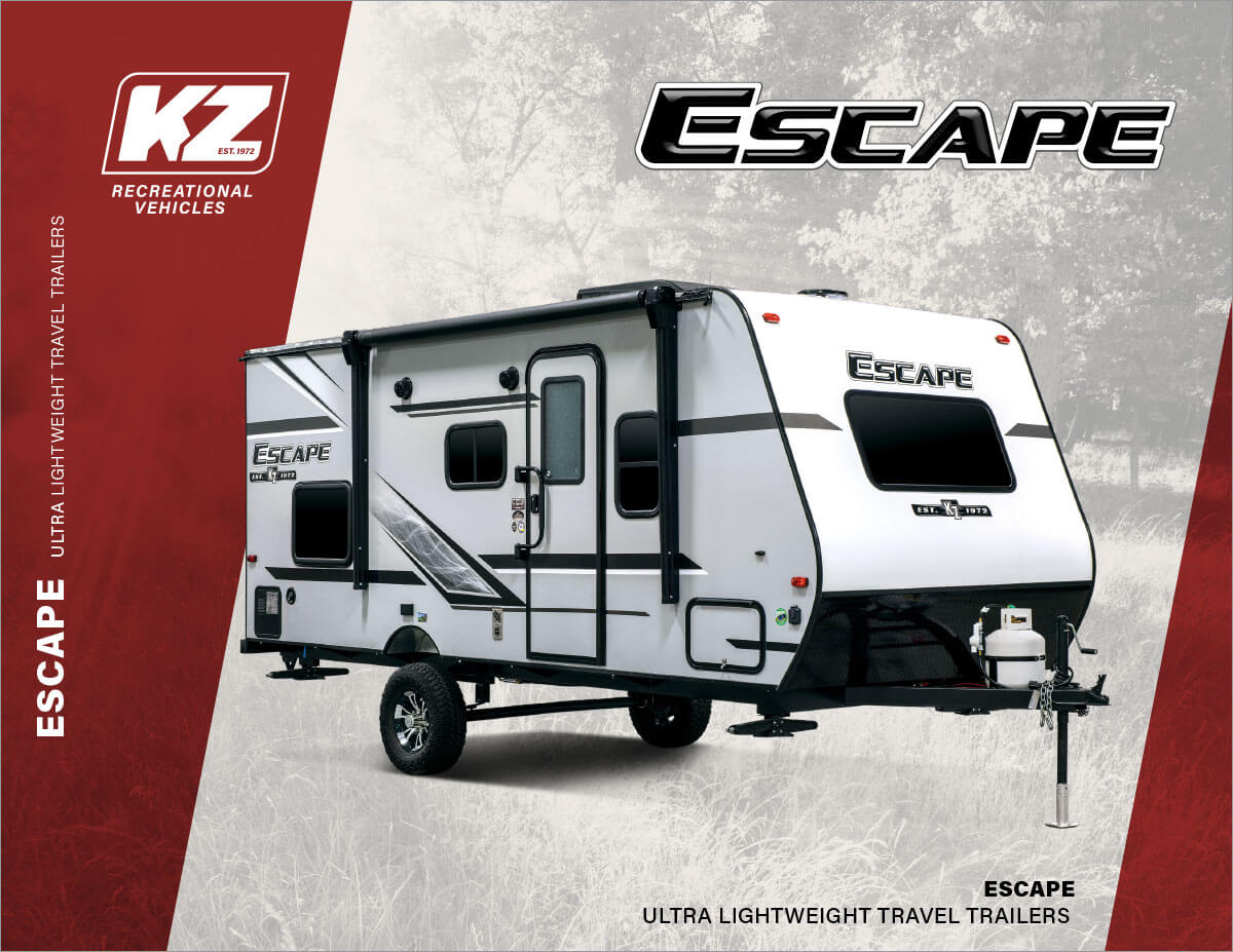 2020 KZ RV Escape Ultra Lightweight Travel Trailers Brochure