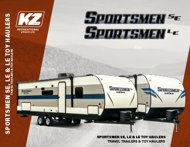 2020 KZ RV Sportsmen SE and LE Travel Trailers Brochure