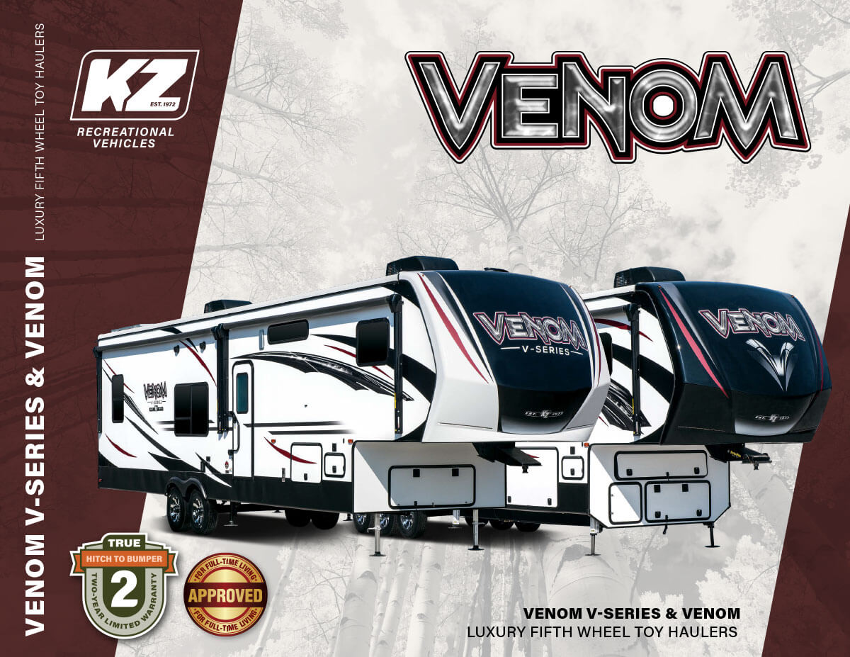2020 KZ RV Venom Luxury Fifth Wheel Toy Haulers Brochure