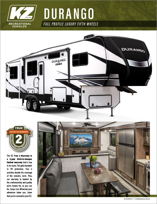 2021 KZ RV Durango Full Profile Luxury Fifth Wheels Brochure