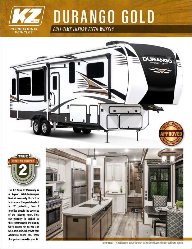 2021 KZ RV Durango Gold Full-Time Luxury Fifth Wheels -Brochure