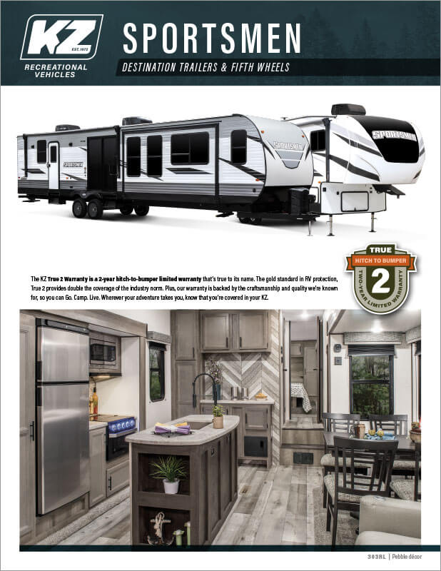 2021 KZ RV Sportsmen Floorplan Flyer