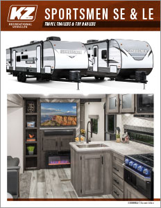 2021 KZ RV Sportsmen SE and LE Travel Trailers Brochure