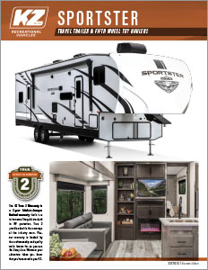 2021 KZ RV Sportster Travel Trailer and Fifth Wheel Toy Haulers Brochure