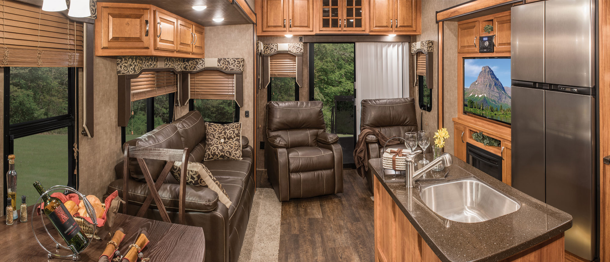 K-Z RV Durango Luxury Fifth Wheels High End Interior Living Room