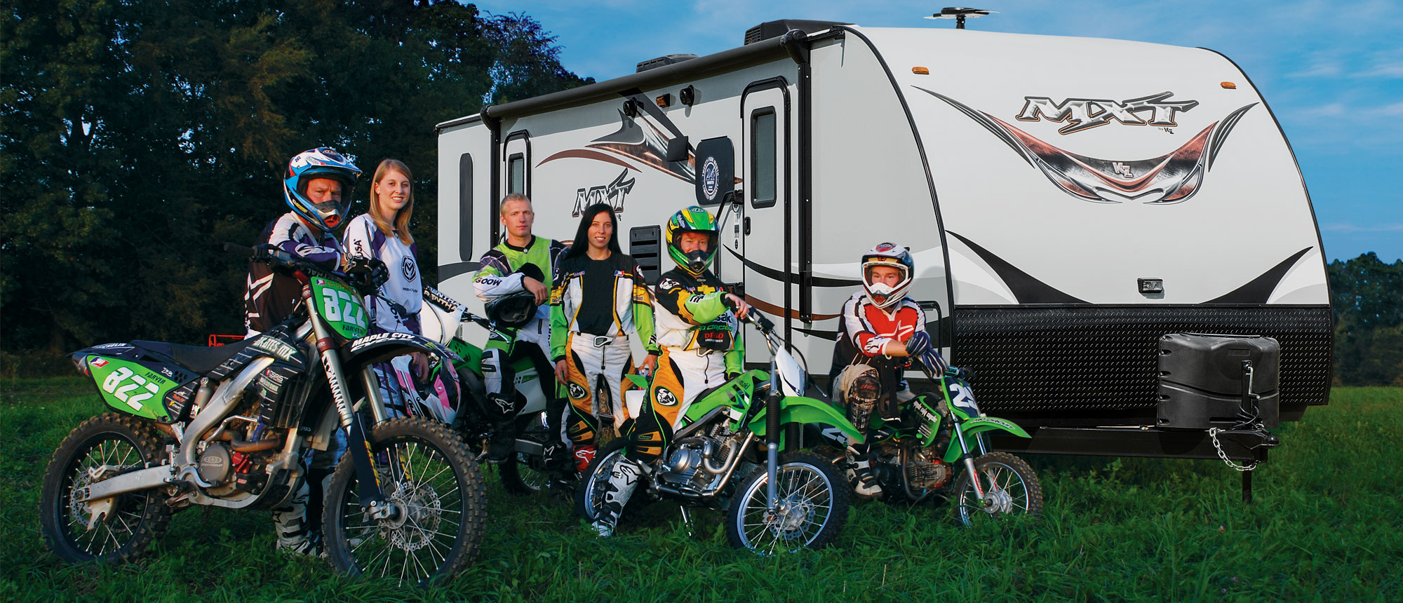 K-Z RV MXT Lightweight Travel Trailer Toy Haulers Dirtbiking Group Outdoors Lifestyle