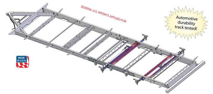 nxg lightweight travel trailer frame