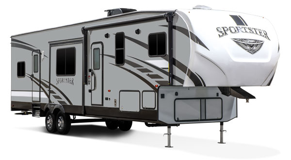 2019 KZ RV Sportster Fifth Wheel Toy Hauler Exterior
