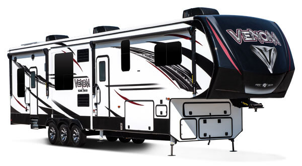 2019 KZ RV Venom Luxury Fifth Wheel Toy Hauler Exterior
