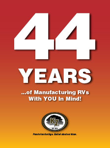 K-Z RV 44 Years Manufacturing RVs Poster