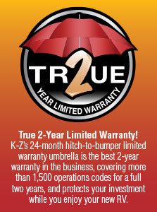 KZ RV True 2 Year Limited Warranty Poster