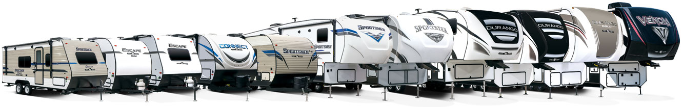2019 KZ RV Exterior Product Lineup