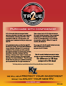 KZ RV True 2 Year Limited Warranty Flyer