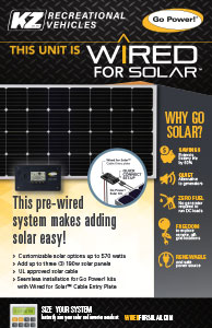 2020 KZ RV Go Power Wired for Solar Poster