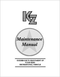 image regarding Printable Rv Setup Checklist referred to as Homeowners Manuals KZ RV