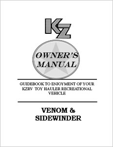 Owner's Manuals | KZ RV