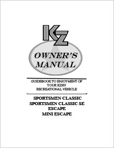 Owner S Manuals Kz Rv In the portal, you can find owner's and repair manuals for a wide variety of models. owner s manuals kz rv