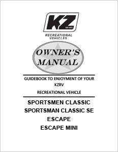 owner\u0027s manuals kz rv K Z Spree 261RKS
