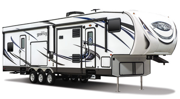 K-Z RV Sportsmen Sportster Travel Trailer and Fifth Wheel Toy Haulers