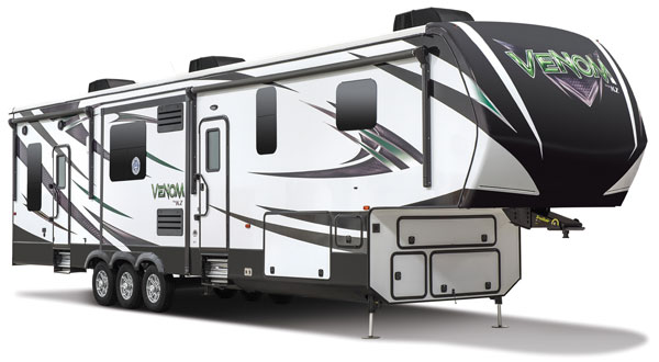 2017 KZ RV Venom Luxury Fifth Wheel Toy Haulers